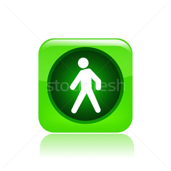 Сток-фото: зеленый · светофора · икона