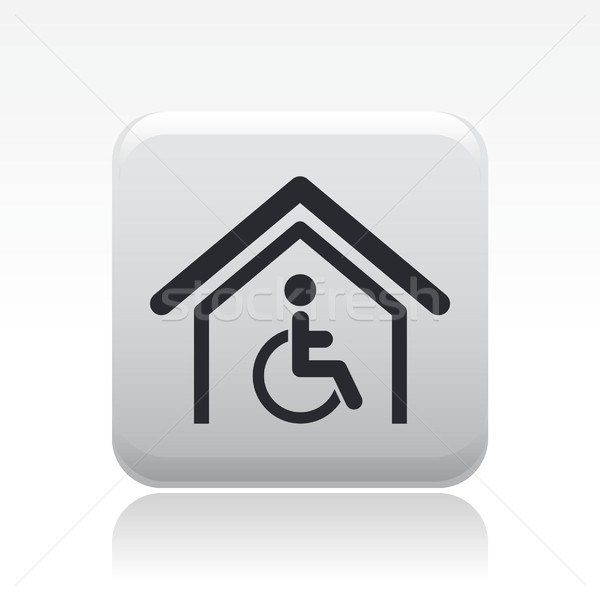 Handicap huis icon home gehandicapten Stockfoto © Myvector