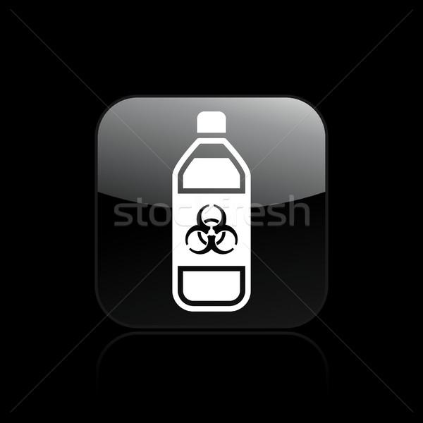 Tehlikeli şişe ikon sanayi sıvı etiket Stok fotoğraf © Myvector