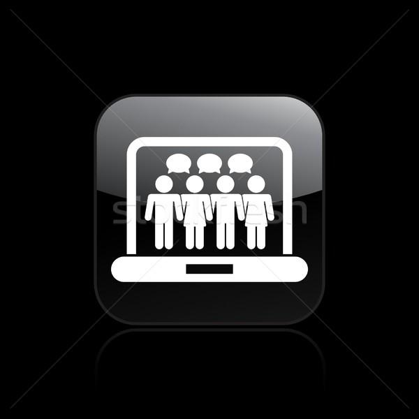 Rede social ícone rede teia comunidade www Foto stock © Myvector