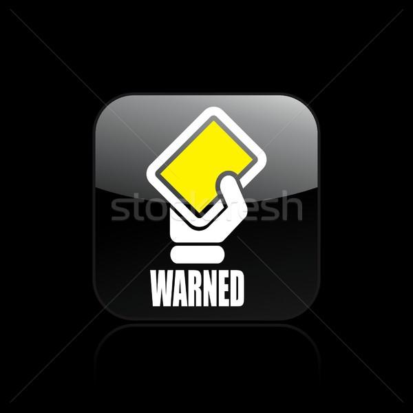 Aviso ícone apoiar amarelo mostrar perigo Foto stock © Myvector