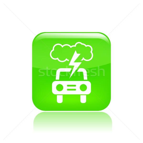 út vihar ikon villám gép verseny Stock fotó © Myvector