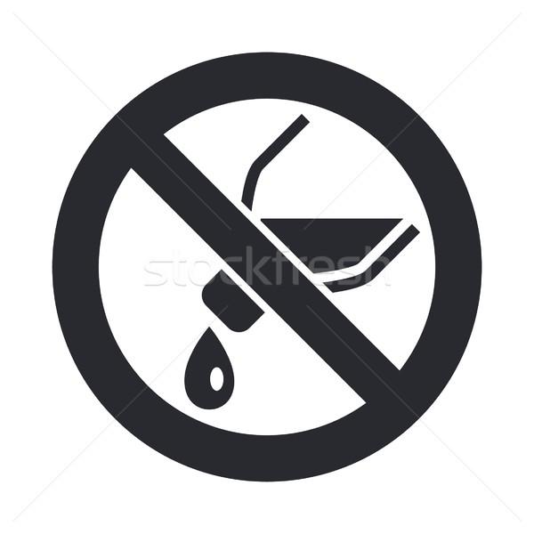 Proibido ícone garrafa Foto stock © Myvector