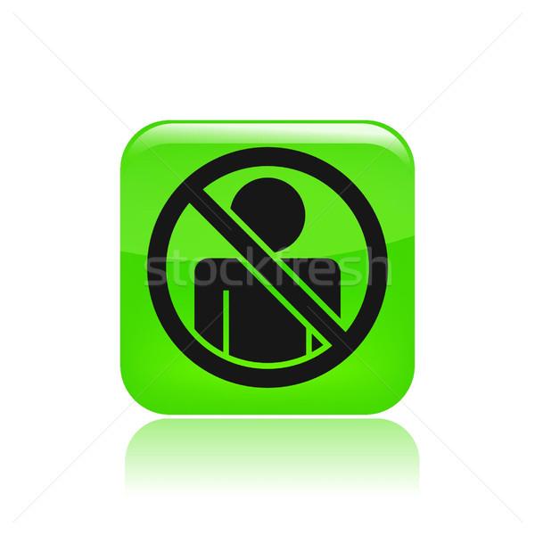Toegang verboden icon Stockfoto © Myvector