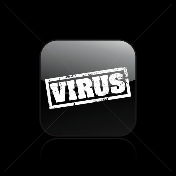 Stok fotoğraf: Virüs · ikon · kavram · uyarı · vektör