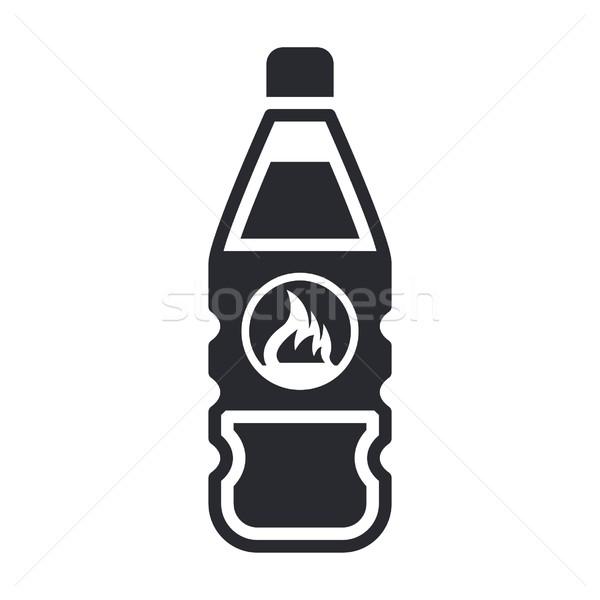 Veszélyes üveg ikon folyadék Stock fotó © Myvector