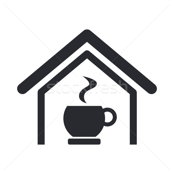 Stockfoto: Cafe · icon · koffie · home · thee · winkel