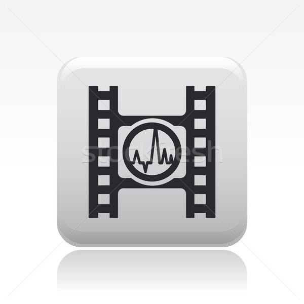 игрок кнопки икона фильма волна вектора Сток-фото © Myvector