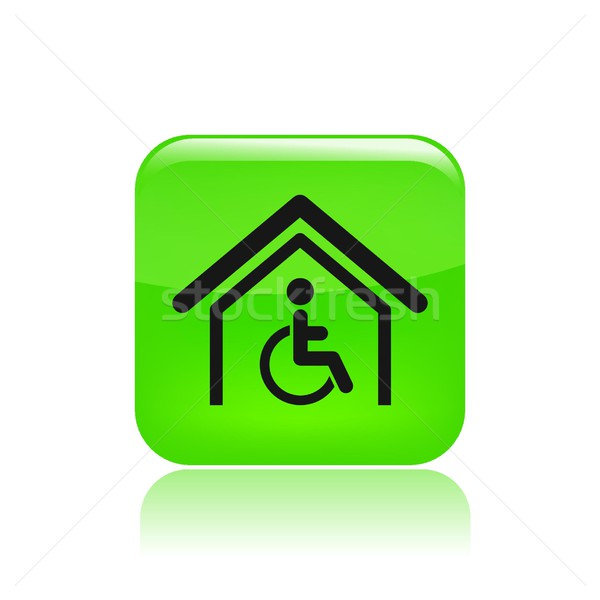 Handicap home icon Stock photo © Myvector