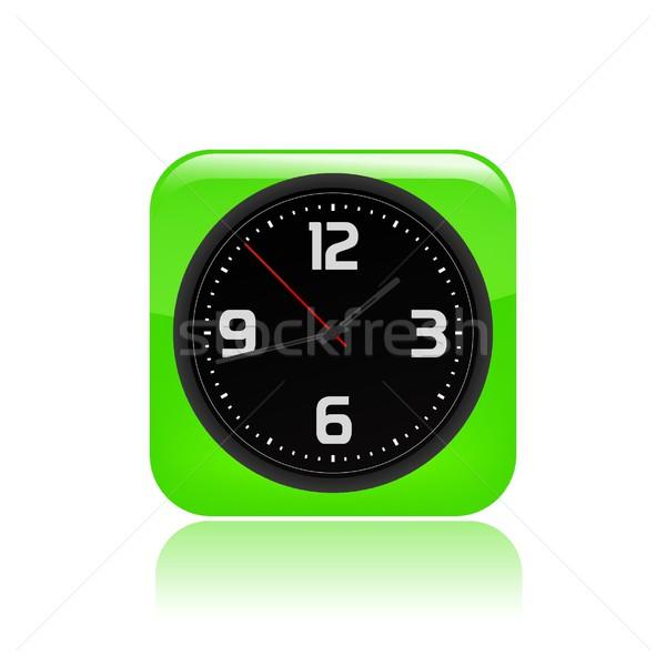 часы икона время кнопки концепция простой Сток-фото © Myvector