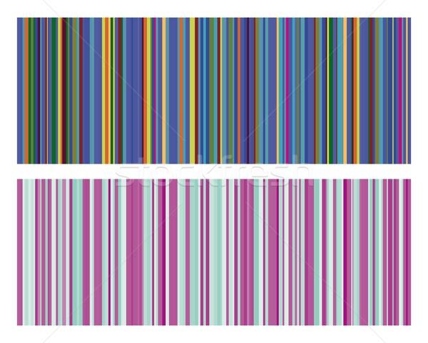 Vintage полосы цветами концепция углу Сток-фото © Myvector