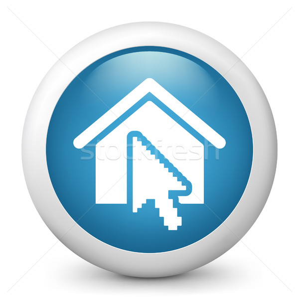 商业照片 / 矢量图: 蓝色 · 图标 · 房子 · 因特网 · 家 / blue