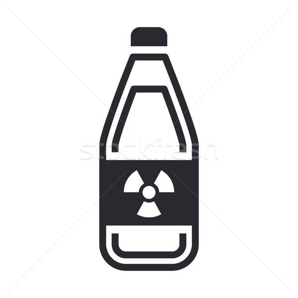 Perigoso garrafa ícone segurança indústria laboratório Foto stock © Myvector