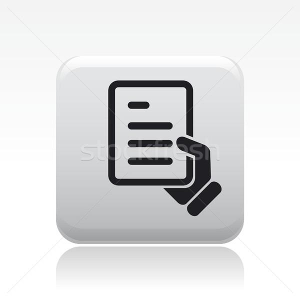 Foto stock: Documento · ícone · bilhete · mostrar · conceito