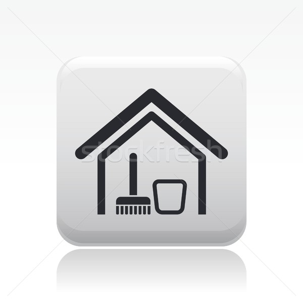 Home schone icon Stockfoto © Myvector