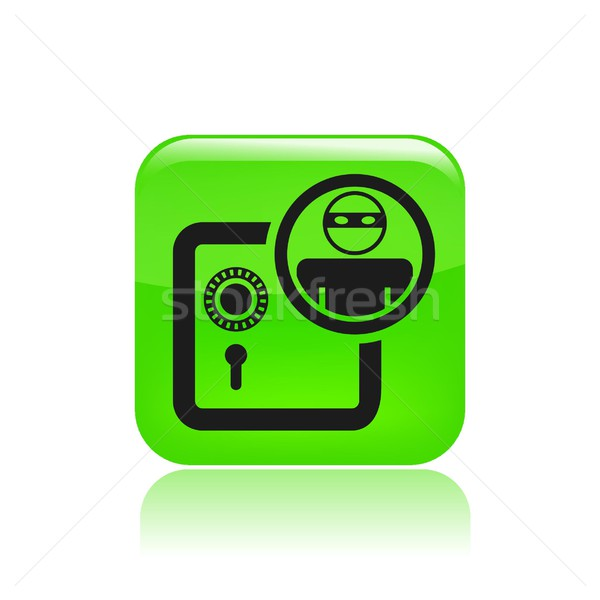Bank thief icon Stock photo © Myvector