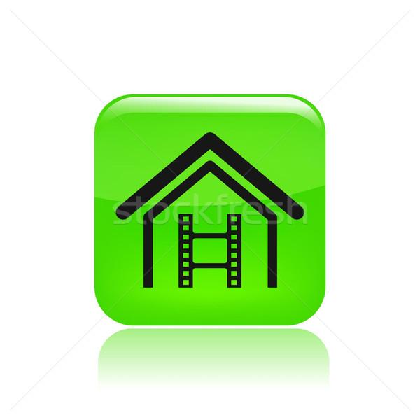 Home video icon  Stock photo © Myvector