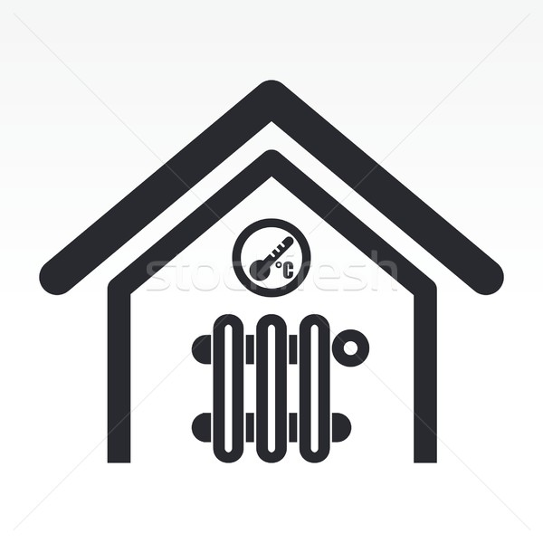 Home temperature icon Stock photo © Myvector
