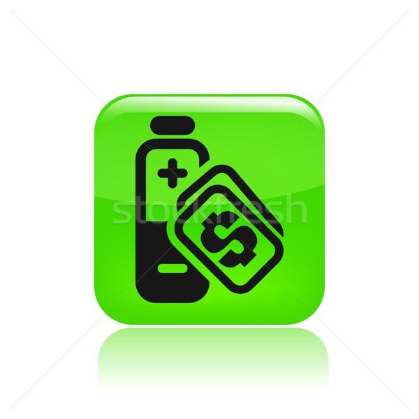 Energía costo icono venta Foto stock © Myvector