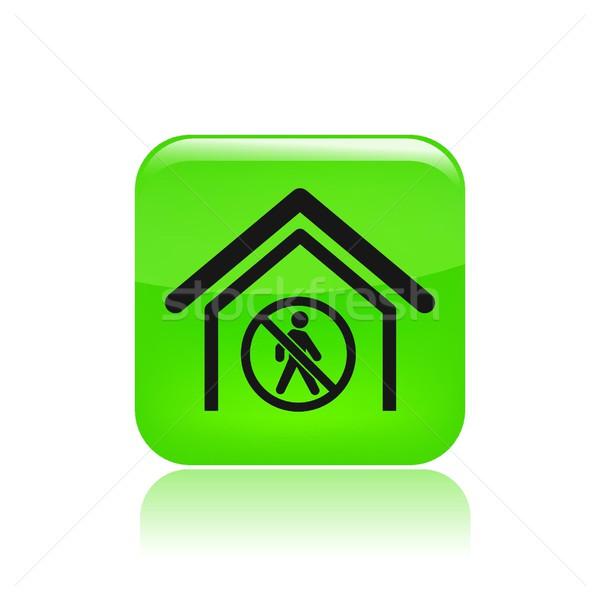 Interdit accès icône maison marche isolé Photo stock © Myvector