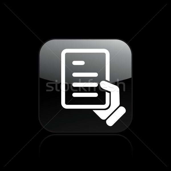 Document handing icon Stock photo © Myvector