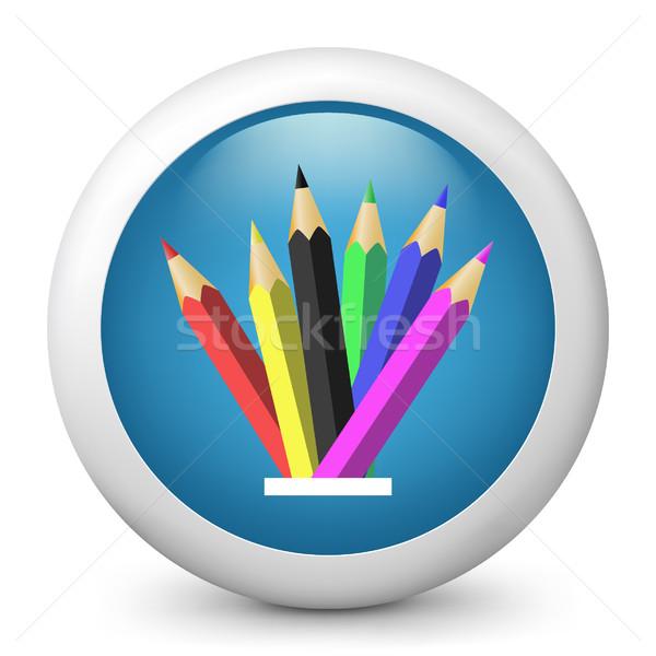 Azul ícone projeto ferramentas desenho Foto stock © Myvector
