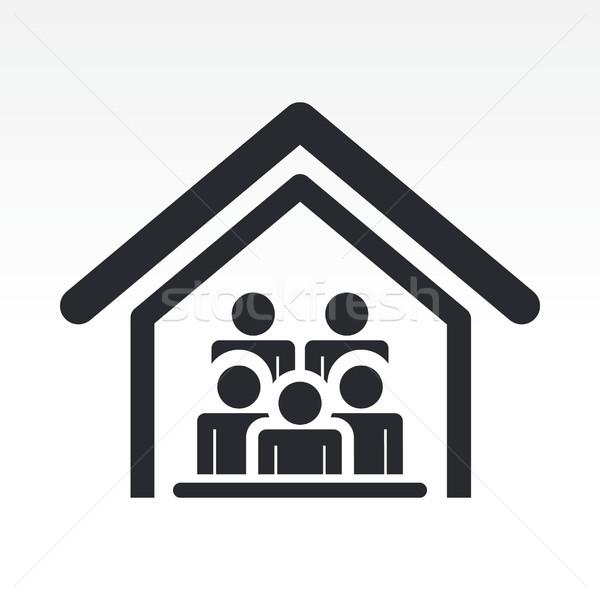 Casa ícone casa grupo Foto stock © Myvector