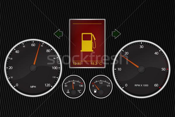 Car instrument panel Stock photo © Myvector