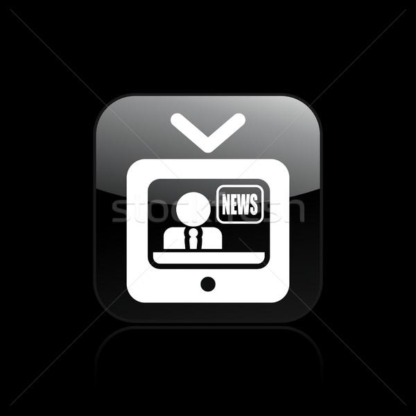 Tv news icon  Stock photo © Myvector