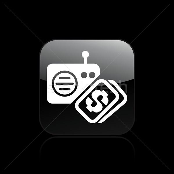Rádió vásárol ikon zene pénzügy Stock fotó © Myvector