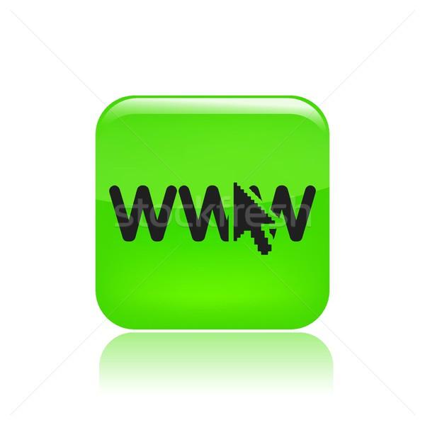WWW ikon számítógép internet hálózat nyíl Stock fotó © Myvector