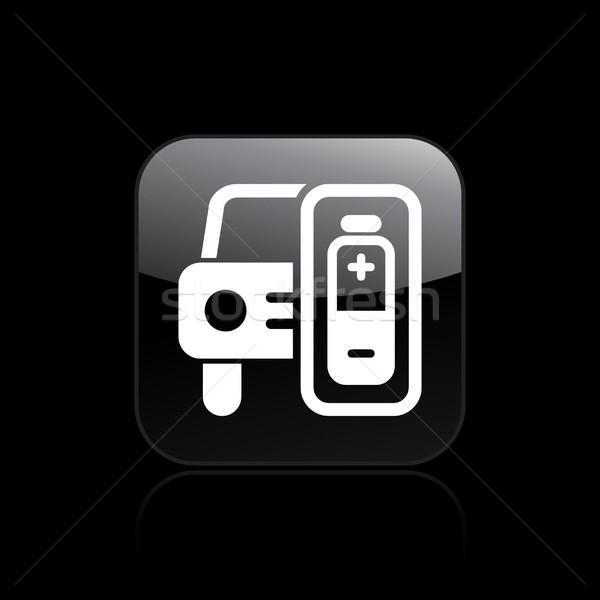 Foto stock: Coche · eléctrico · icono · coche · luz · móviles · energía