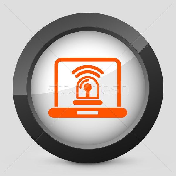 Eleganten orange glänzend Symbol Computer Stock foto © Myvector