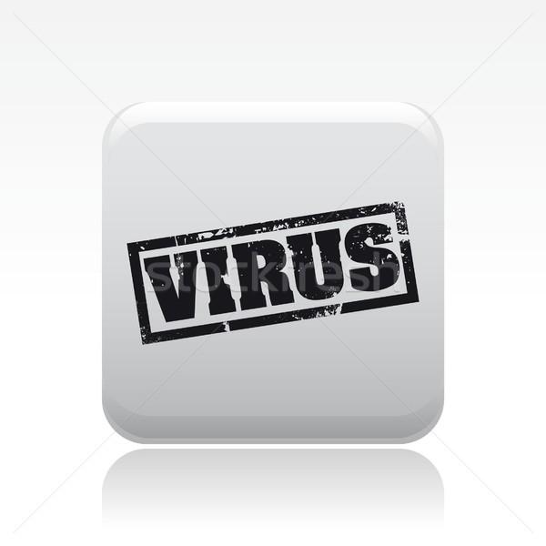 Stok fotoğraf: Pc · virüs · ikon · web · kavram · uyarı