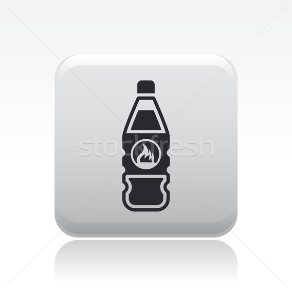 Veszélyes üveg ikon folyadék veszély Stock fotó © Myvector