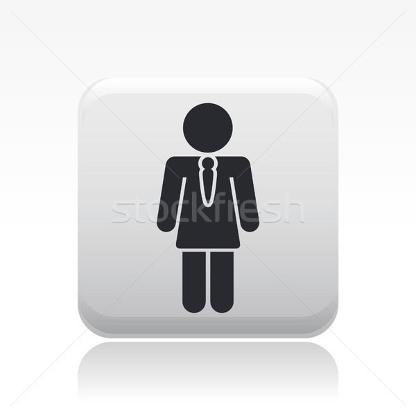 Menina ícone trabalhador feminino conceito preço Foto stock © Myvector