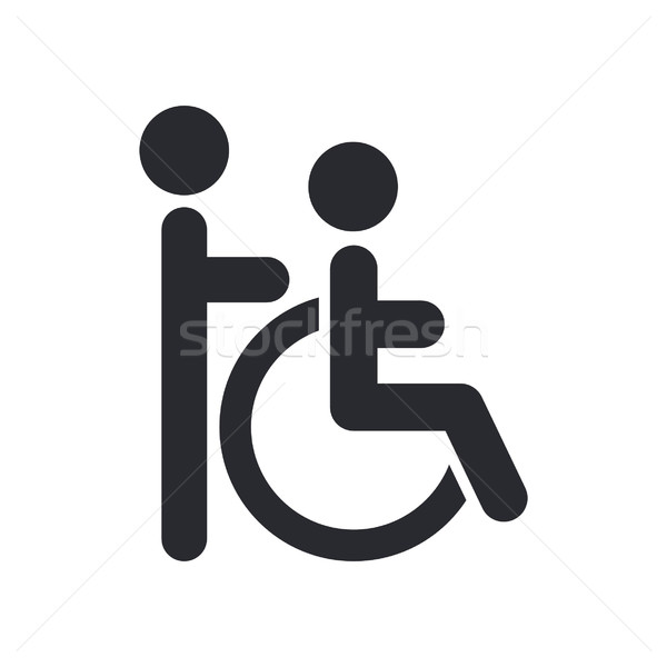 Handicap asystent ikona domu społecznej wektora Zdjęcia stock © Myvector