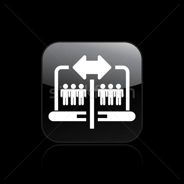 ícone jogar arquivo conceito vetor ilustração Foto stock © Myvector