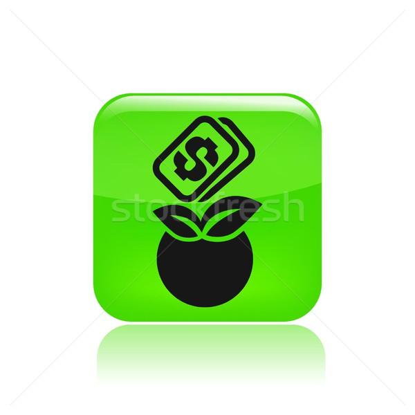 Voedsel prijs icon geld natuur vruchten Stockfoto © Myvector