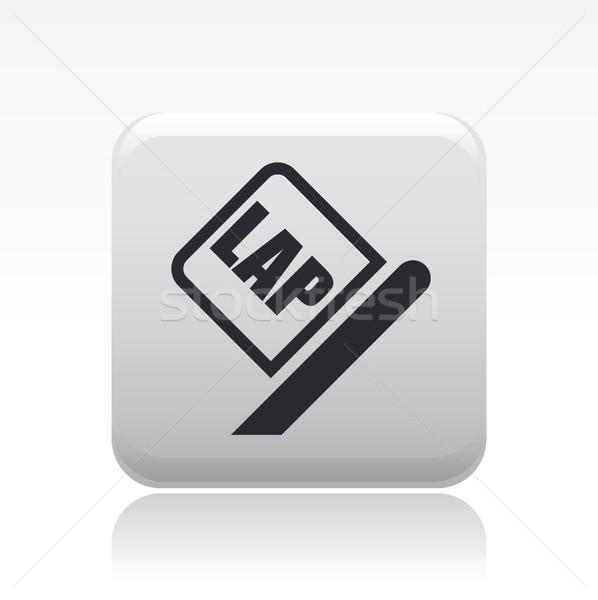 Lap race flag icon Stock photo © Myvector