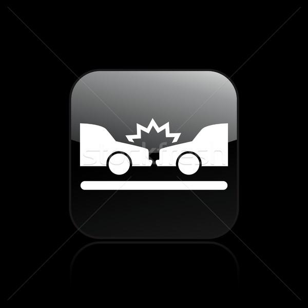 Auto Absturz Symbol Autos Verkehr Versicherung Stock foto © Myvector