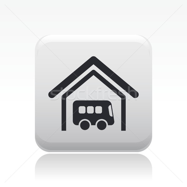 ônibus estação ícone bilhete armazém armazenamento Foto stock © Myvector