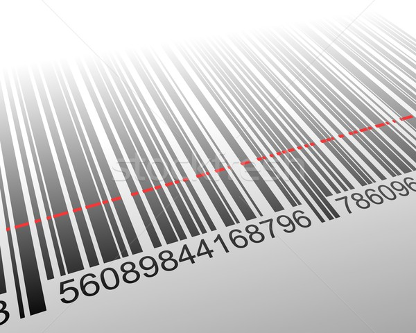 Stock photo: Vector illustration of barcode with laser effect