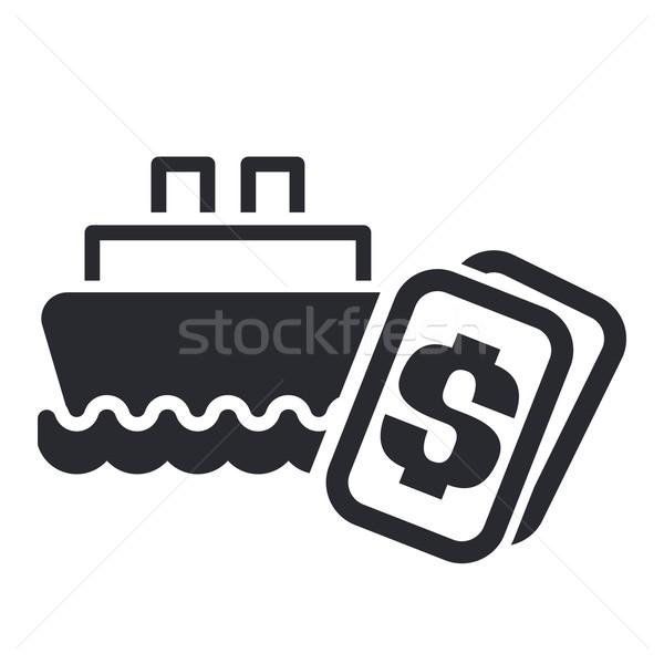 Barco costo icono dinero Foto stock © Myvector