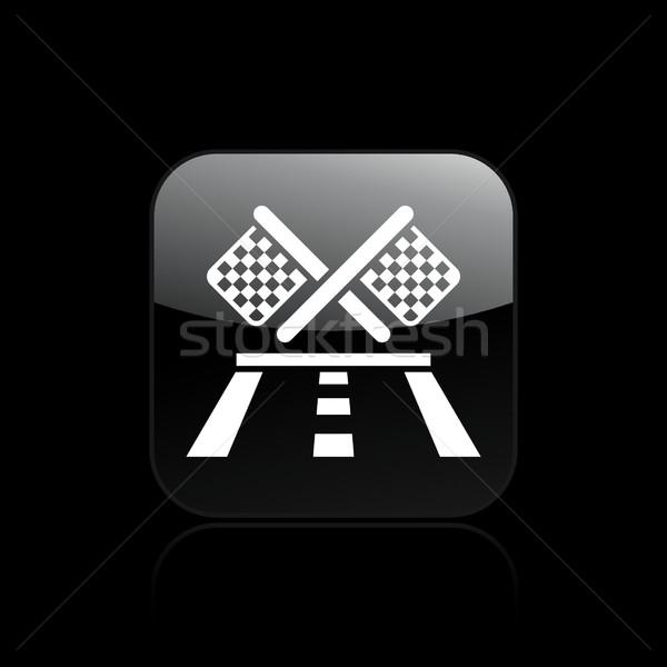 Yarış varış ikon spor fincan yarış Stok fotoğraf © Myvector