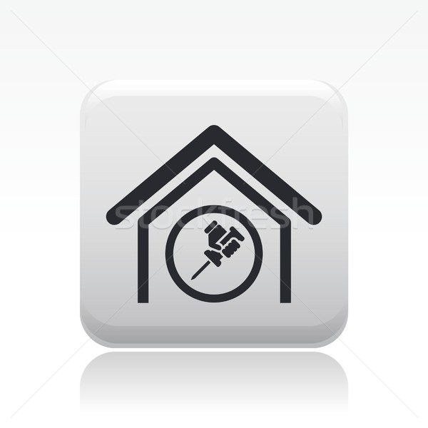 Home adjust icon Stock photo © Myvector