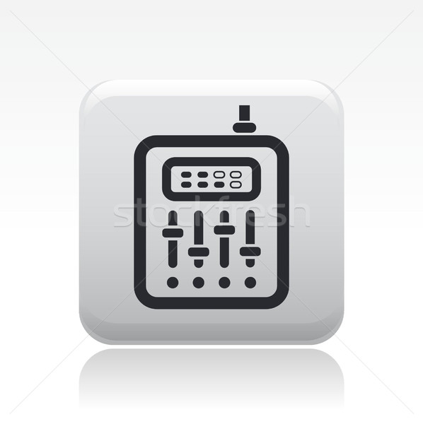 Mixeur icône musique disco audio écouter Photo stock © Myvector