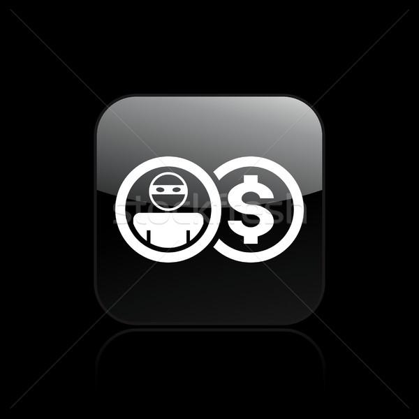 Hırsız ikon güvenlik sigorta yalıtılmış örnek Stok fotoğraf © Myvector