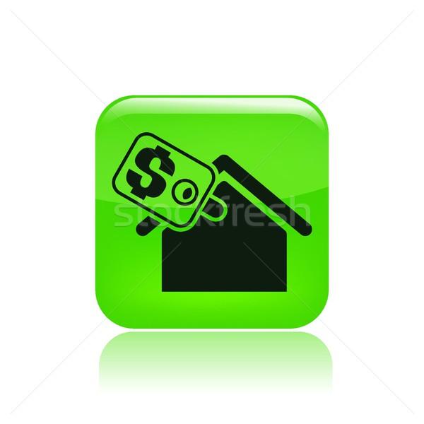 Imóveis ícone casa de vendas venda conceito Foto stock © Myvector