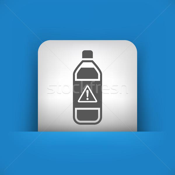 Kék szürke ikon folyadék szennyezés címke Stock fotó © Myvector